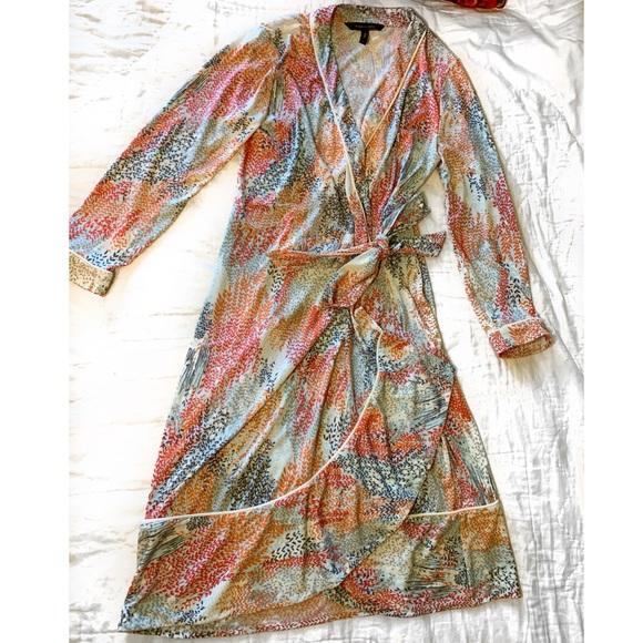 BCBGMaxAzria Dresses & Skirts - BCBGMaxAzria Colorful Wrap Dress size-small